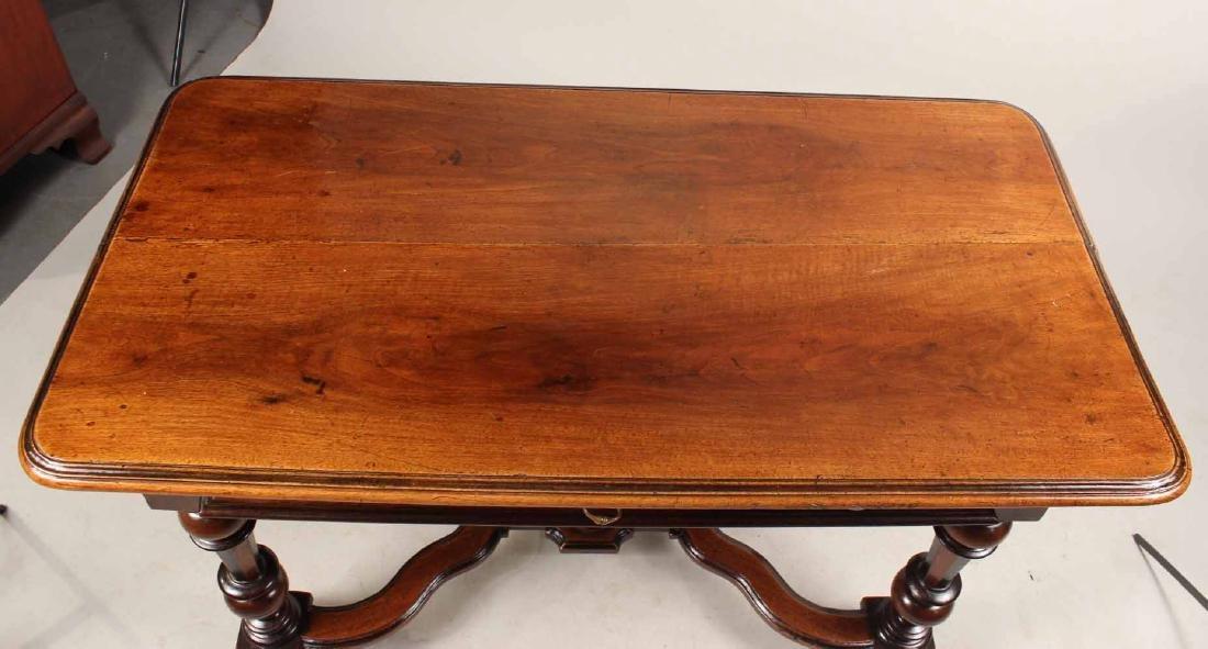 Baroque Part-Ebonized Walnut Pier Table - 6