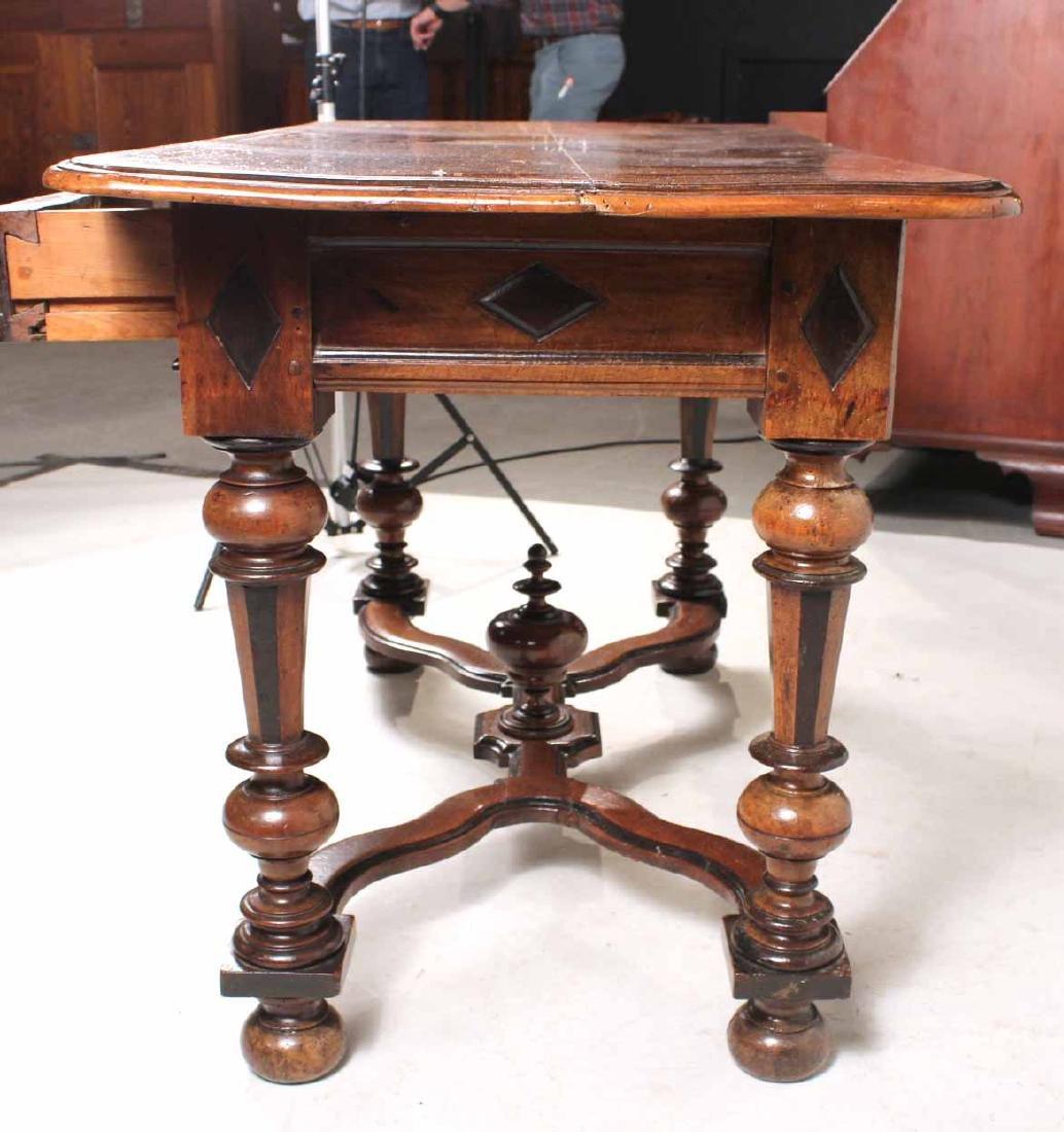 Baroque Part-Ebonized Walnut Pier Table - 8