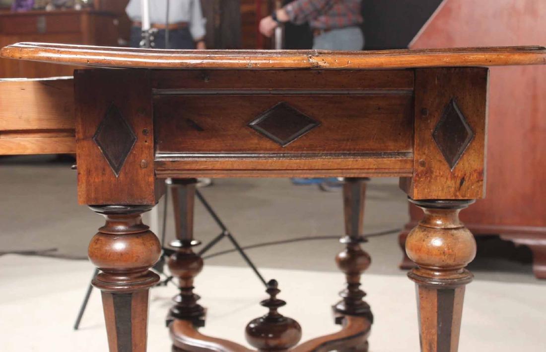 Baroque Part-Ebonized Walnut Pier Table - 9