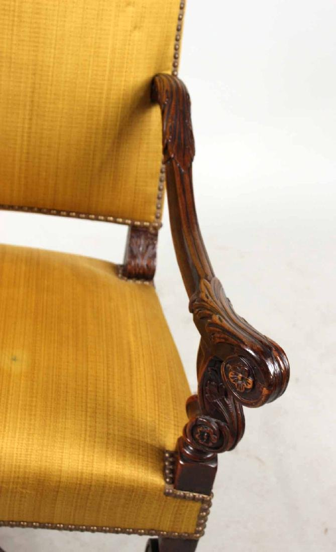 Baroque Carved Walnut Armchair - 3