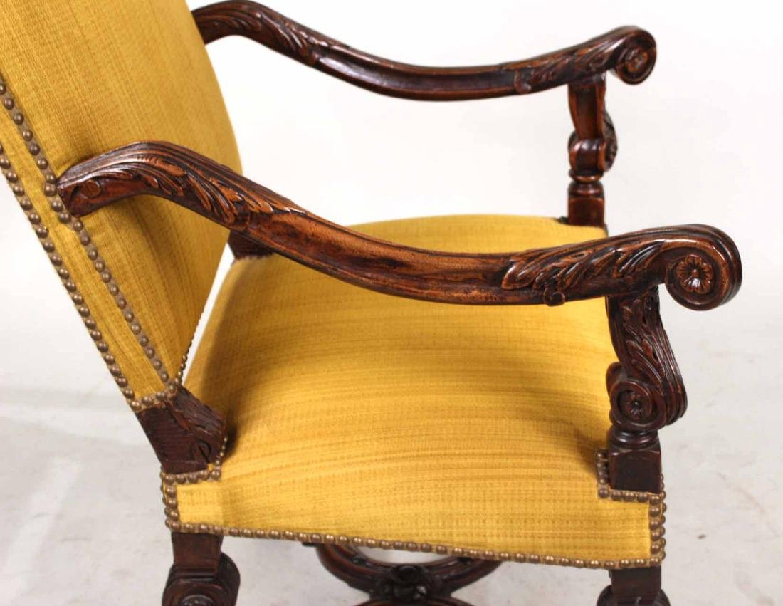 Baroque Carved Walnut Armchair - 7