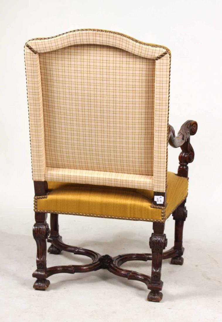 Baroque Carved Walnut Armchair - 8