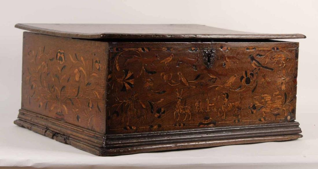 William and Mary Marquetry Oak Box