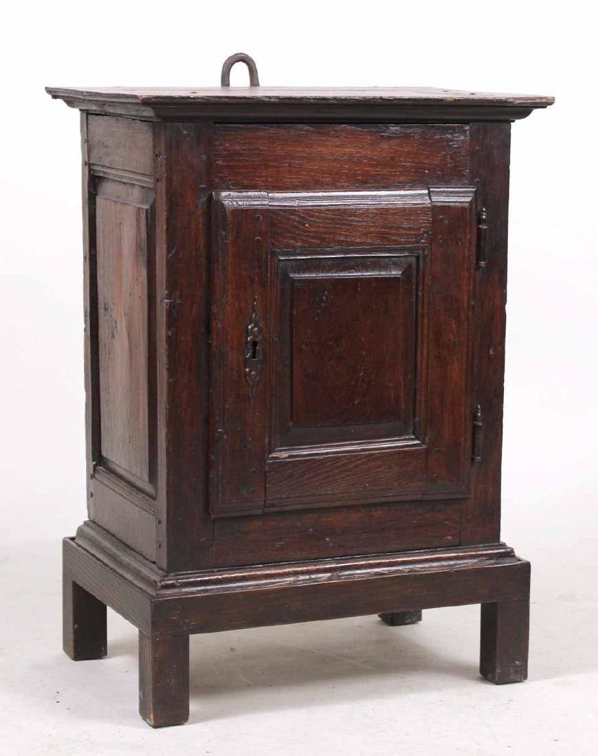 William and Mary Style Oak Hanging Cupboard