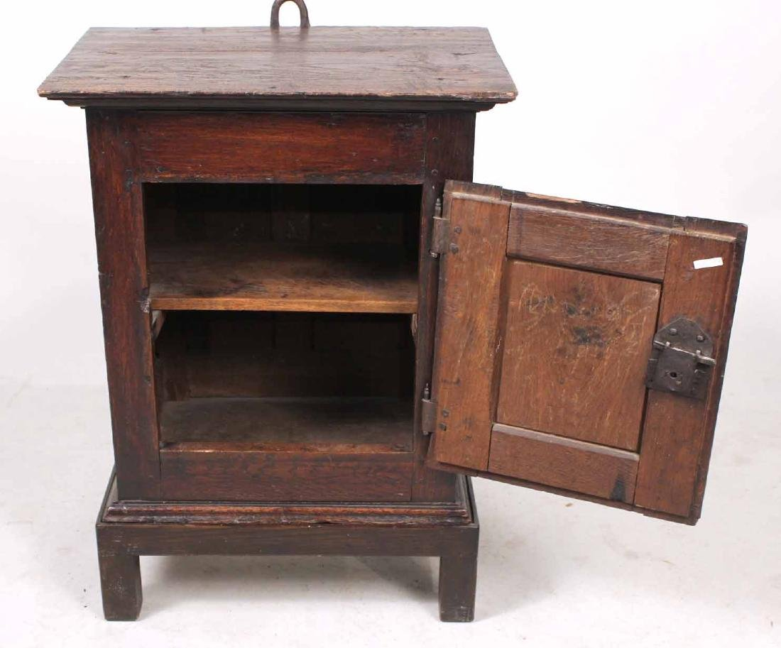 William and Mary Style Oak Hanging Cupboard - 3
