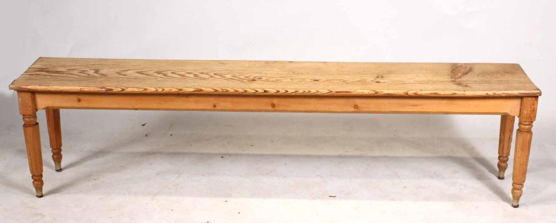 English Pine Long Bench - 2