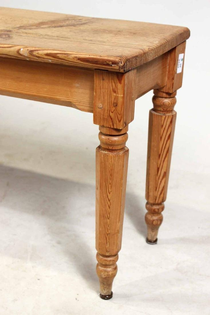 English Pine Long Bench - 4