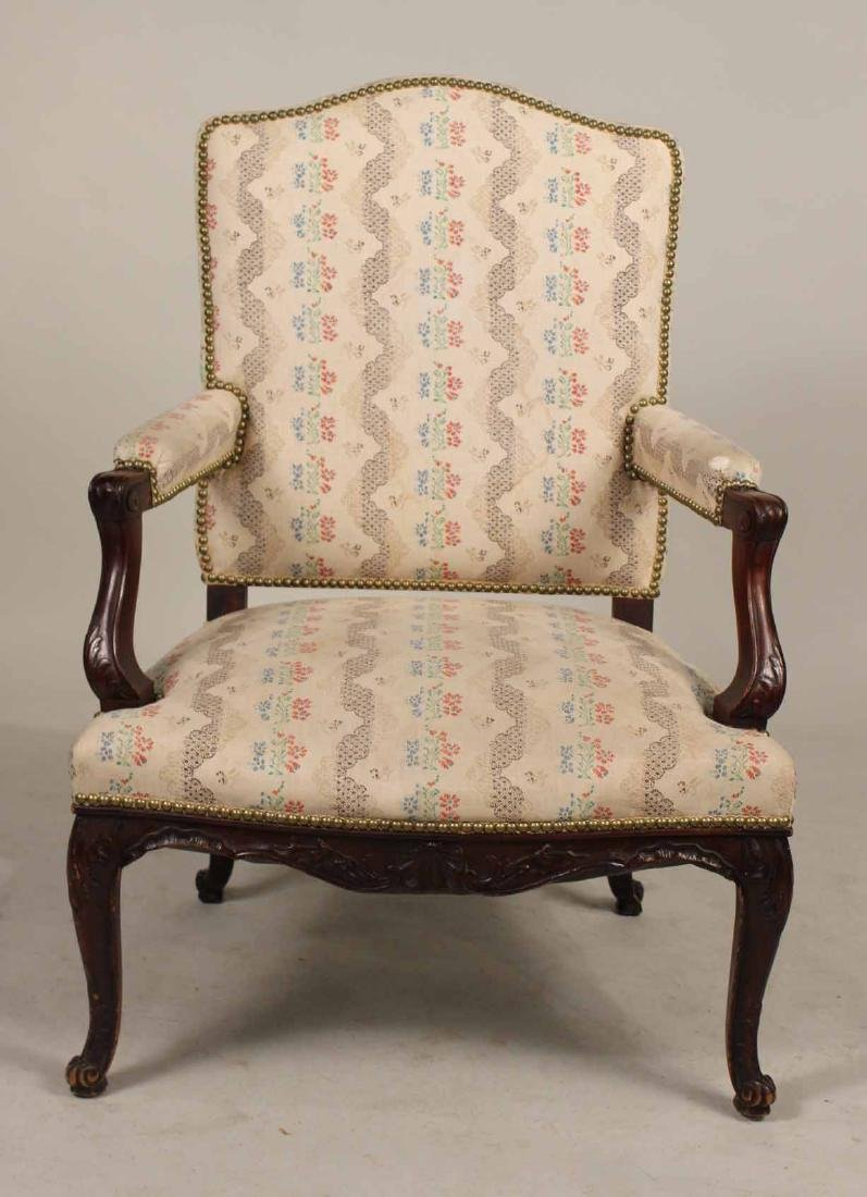 George II Style Carved Mahogany Armchair - 6