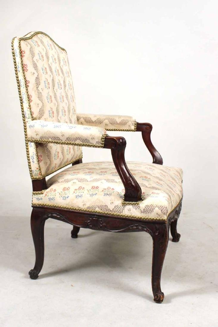 George II Style Carved Mahogany Armchair - 7