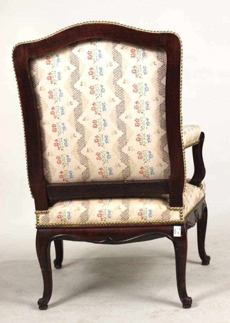 George II Style Carved Mahogany Armchair - 9