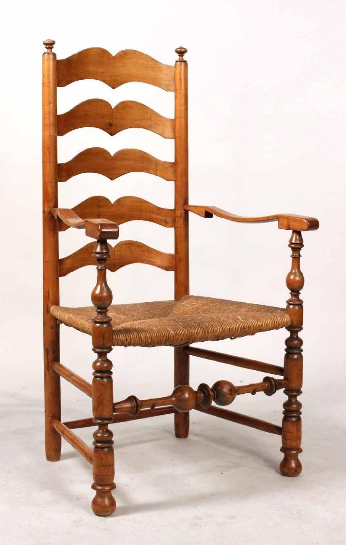 Rush Seat Ladderback Armchair