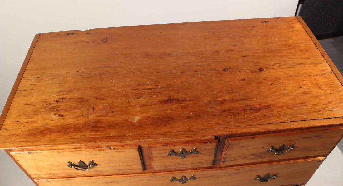 Queen Anne Pine Blanket Chest Over Drawers - 7