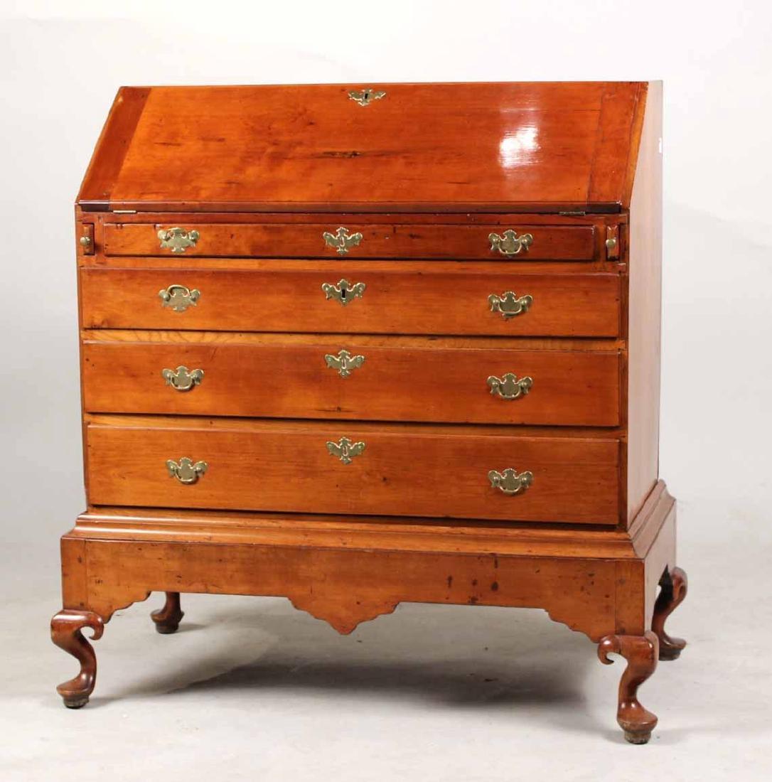 Queen Anne Cherrywood Slant-Front Desk on Frame