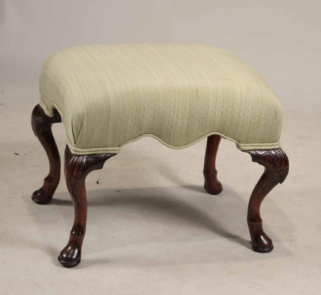 George II Style Carved Walnut Footstool