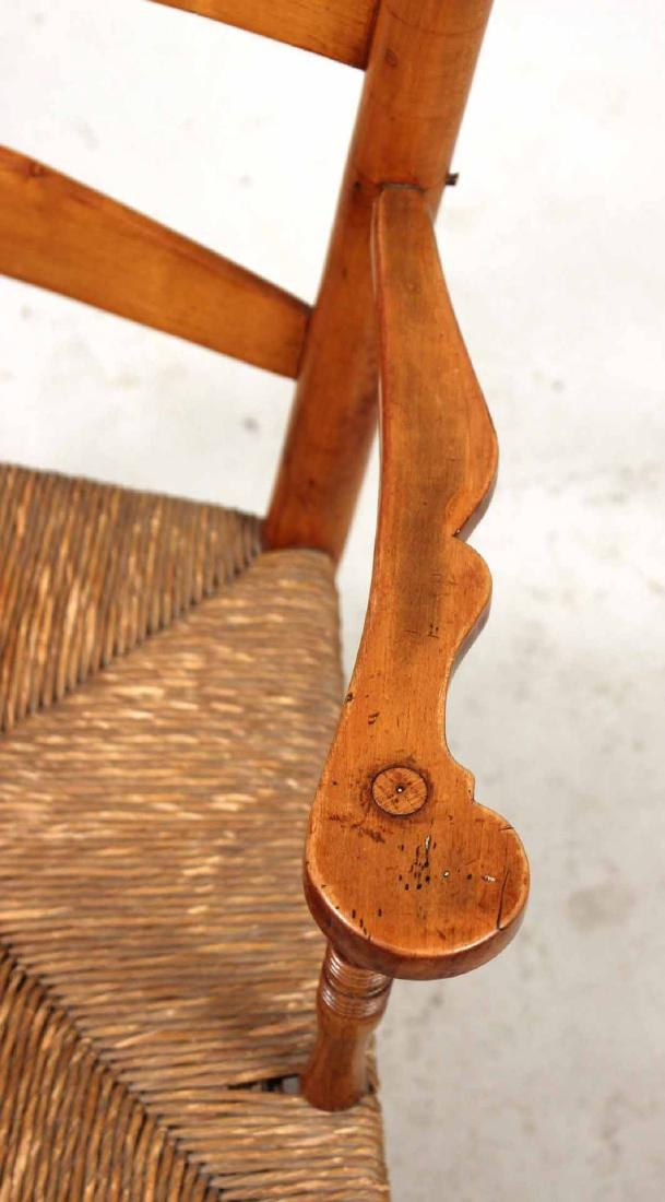 Rush Seat Maple Ladder-Back Rocking Chair - 5