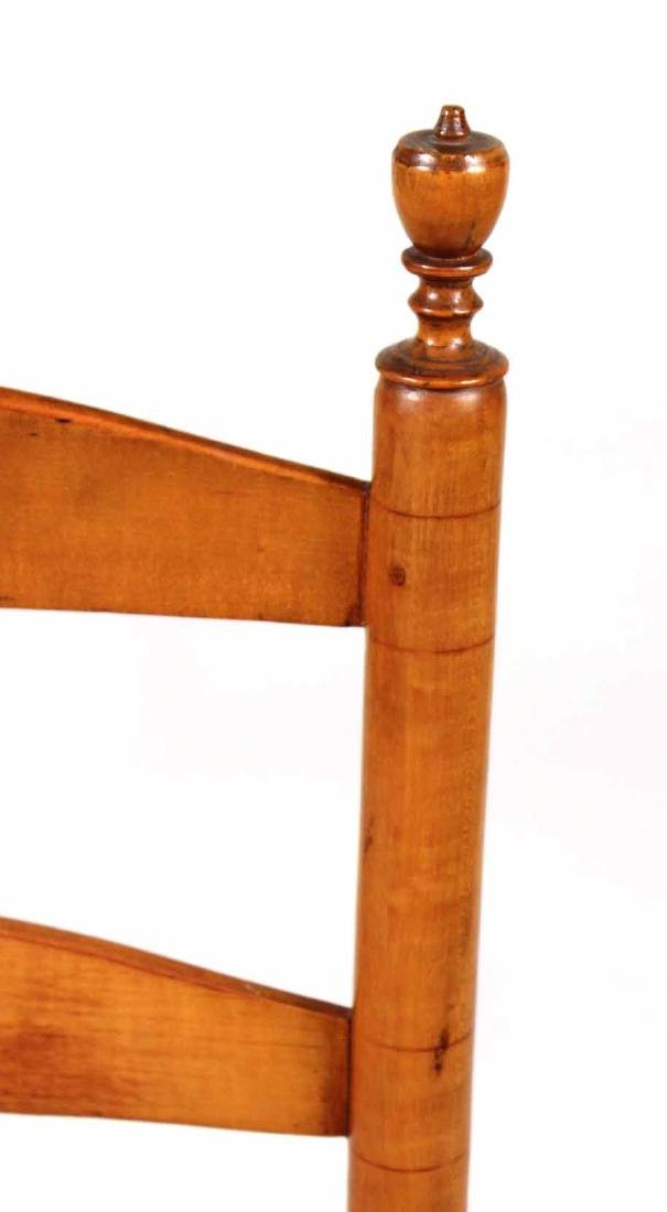Rush Seat Maple Ladder-Back Rocking Chair - 6