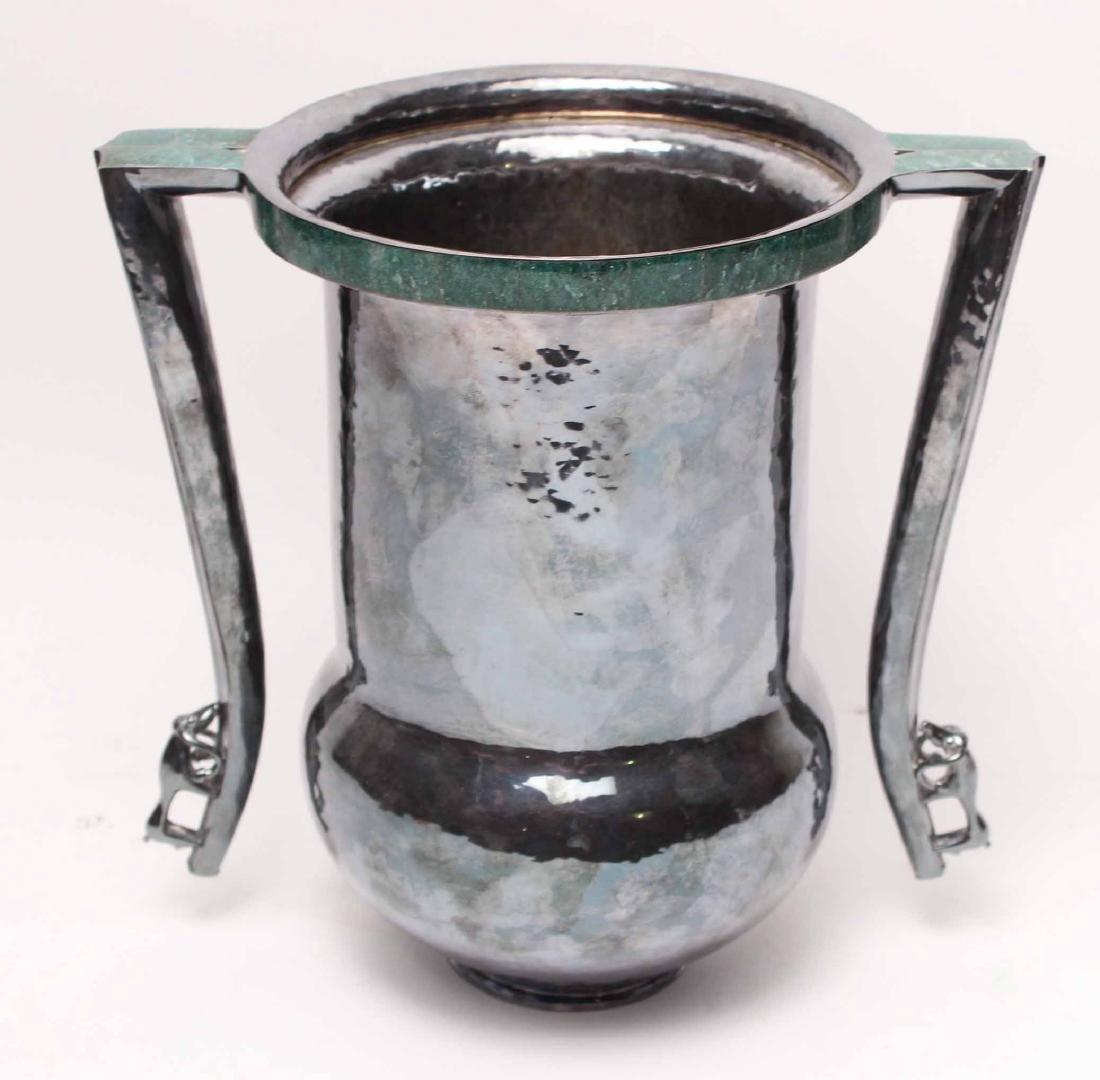 Goudji Sterling Silver Two-Handled Vase