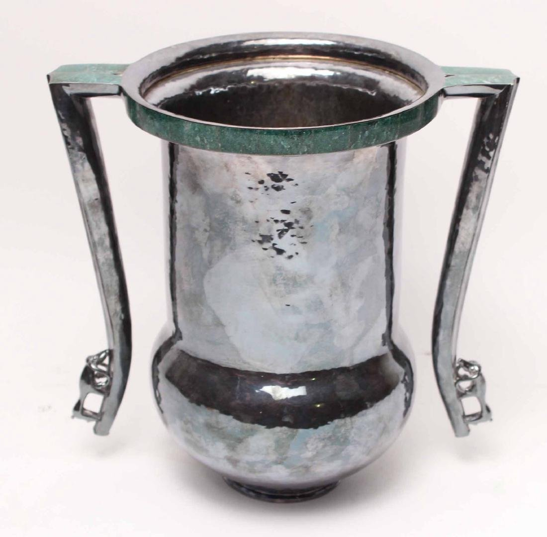 Goudji Sterling Silver Two-Handled Vase