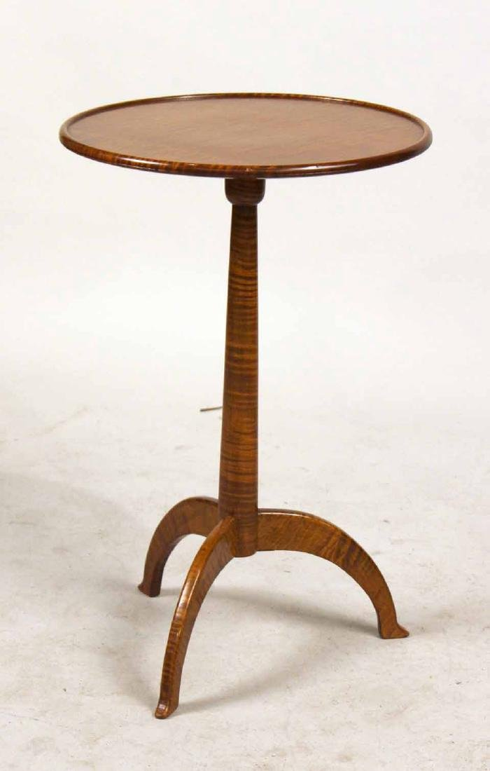 Shaker Style Figured Maple Candlestand