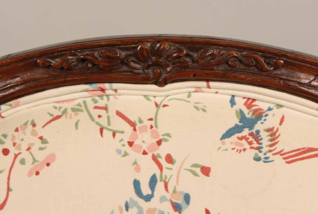 Louis XV Carved Walnut Slipper Chair - 3