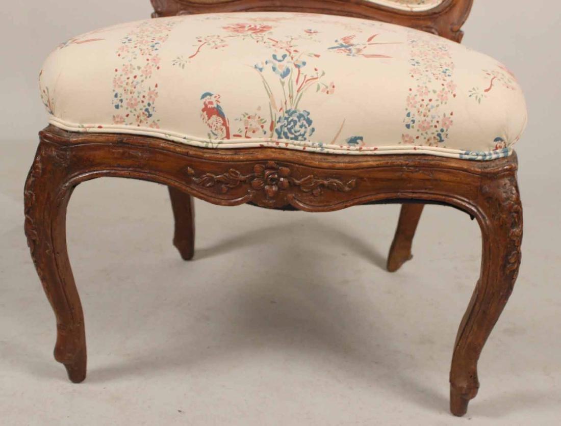 Louis XV Carved Walnut Slipper Chair - 4