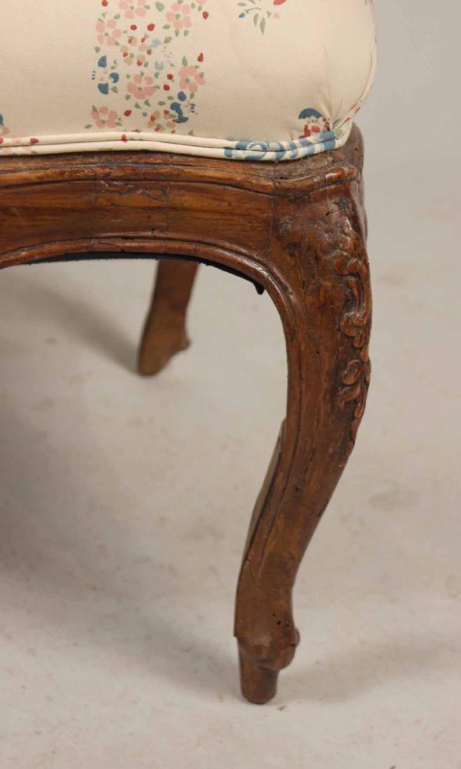 Louis XV Carved Walnut Slipper Chair - 5