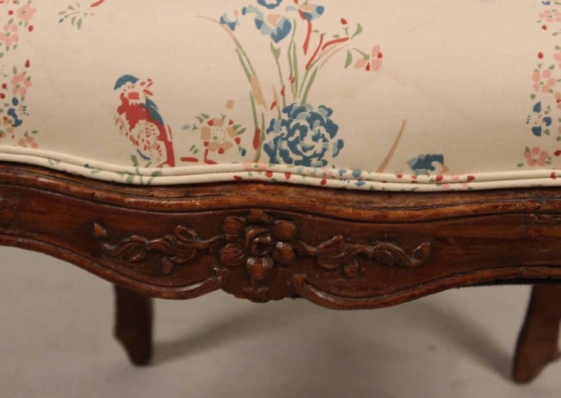 Louis XV Carved Walnut Slipper Chair - 6