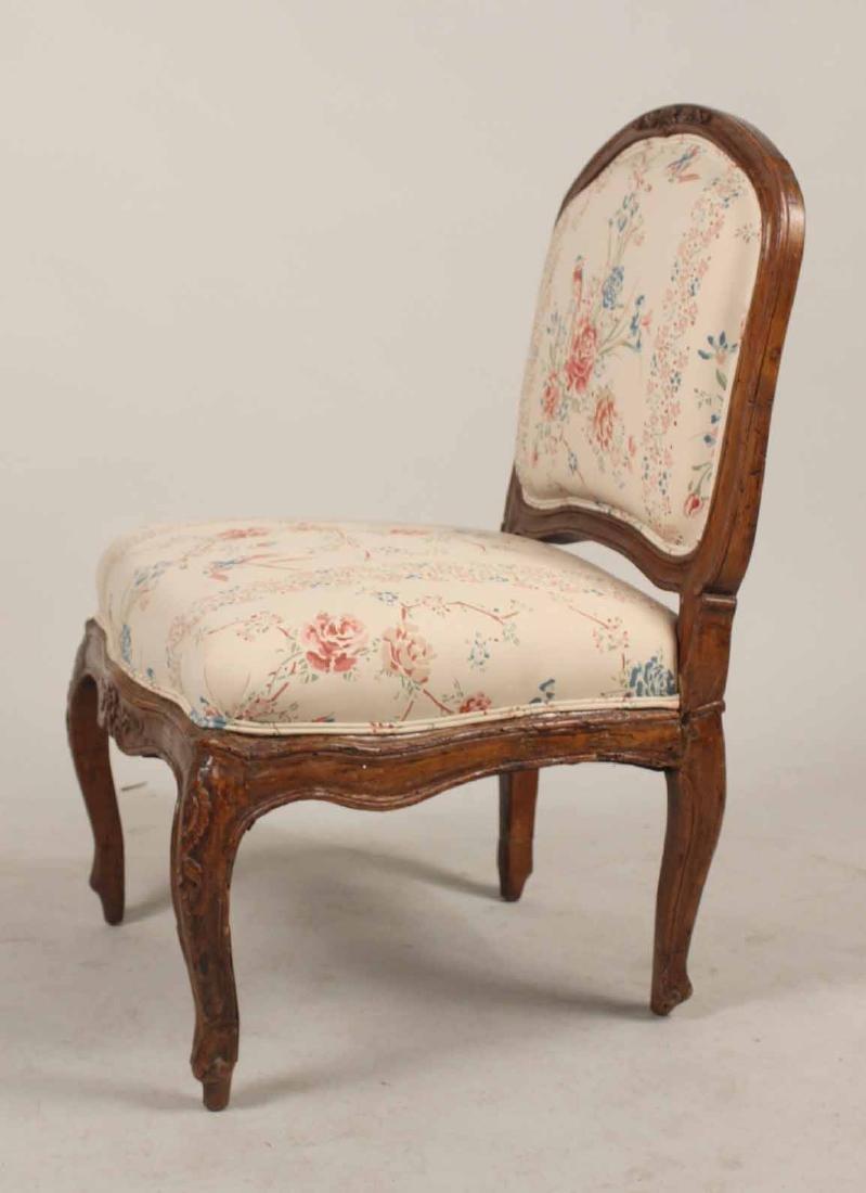 Louis XV Carved Walnut Slipper Chair - 7