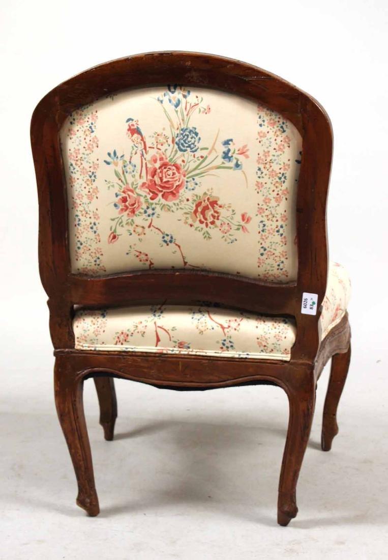Louis XV Carved Walnut Slipper Chair - 8