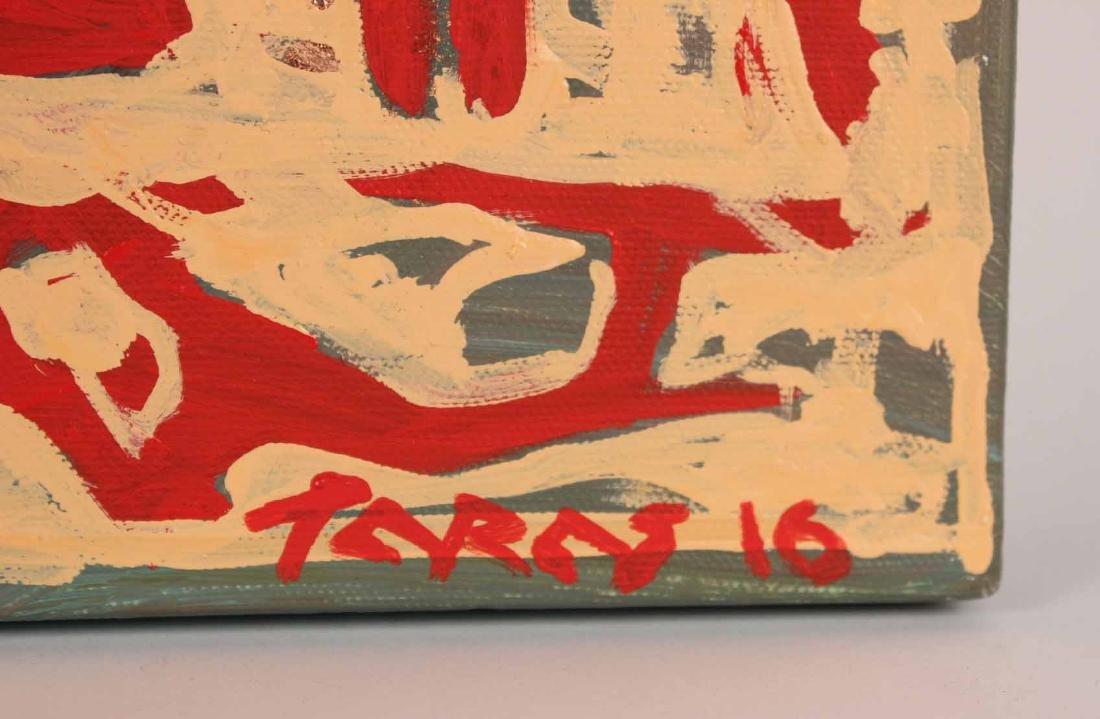 Oil and Copper Leaf on Canvas, Tara Borovyk - 2