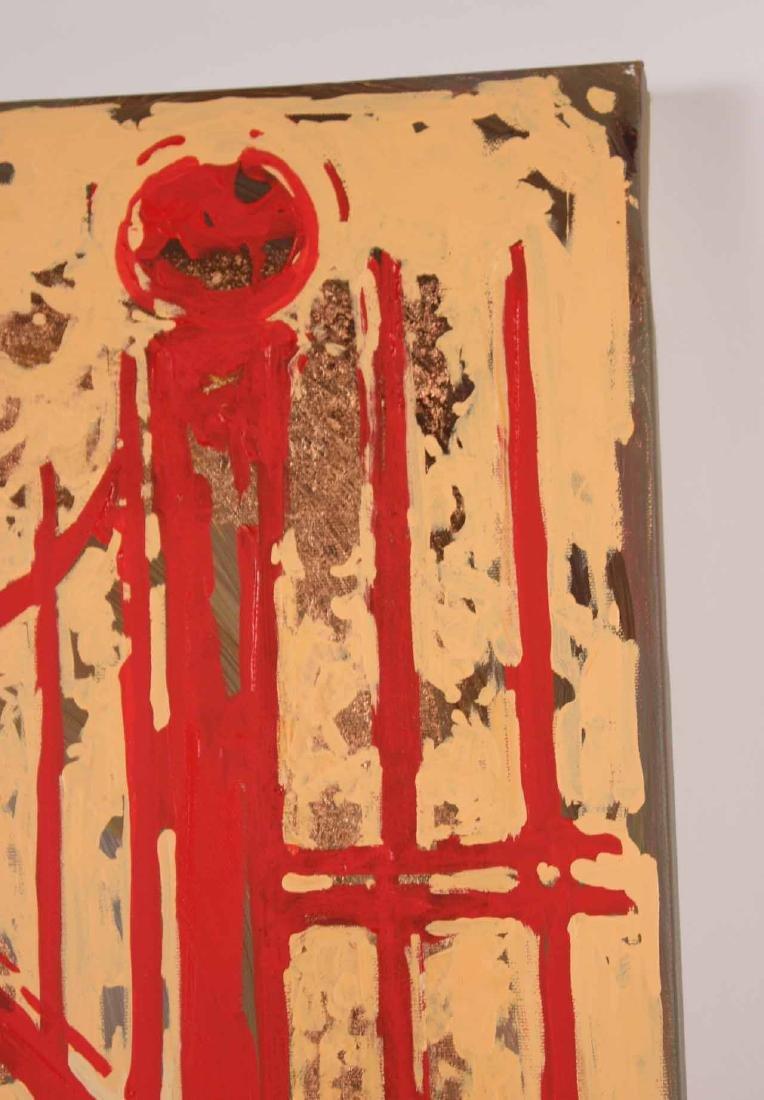 Oil and Copper Leaf on Canvas, Tara Borovyk - 4