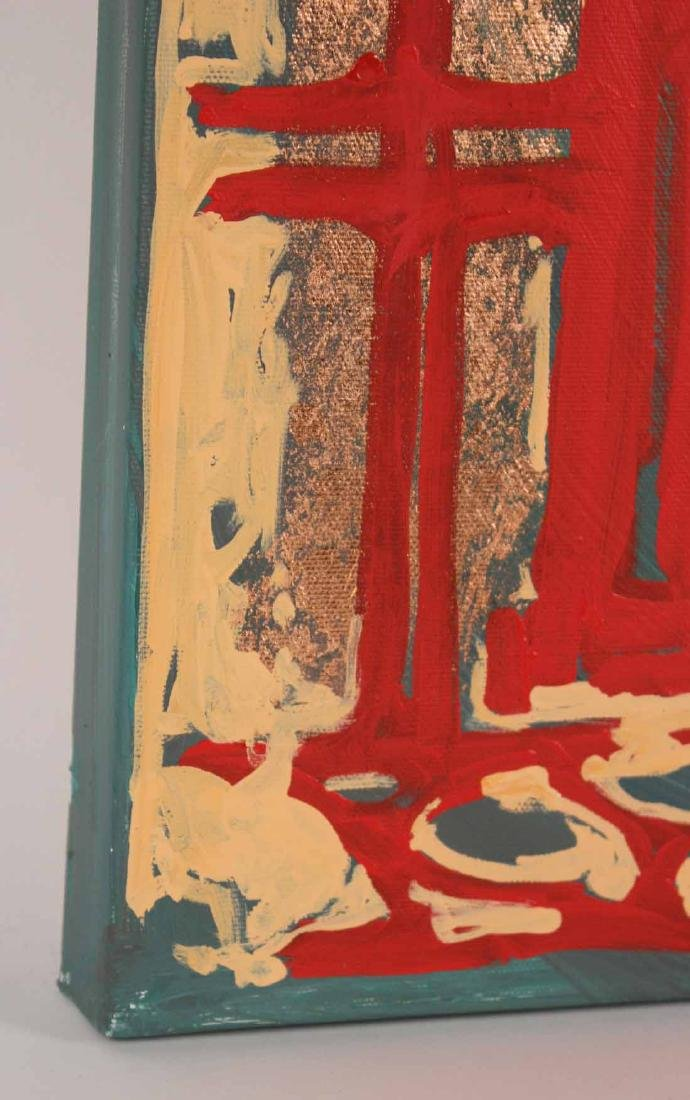 Oil and Copper Leaf on Canvas, Tara Borovyk - 6