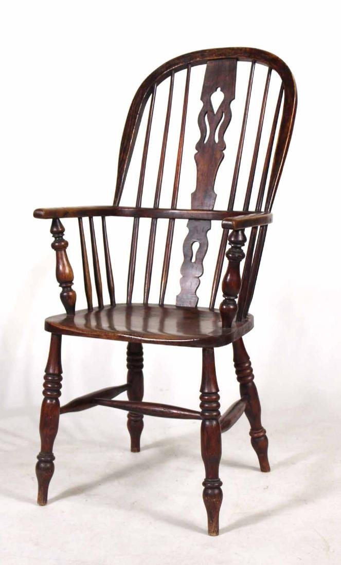 Four Yew Wood Armchairs - 2