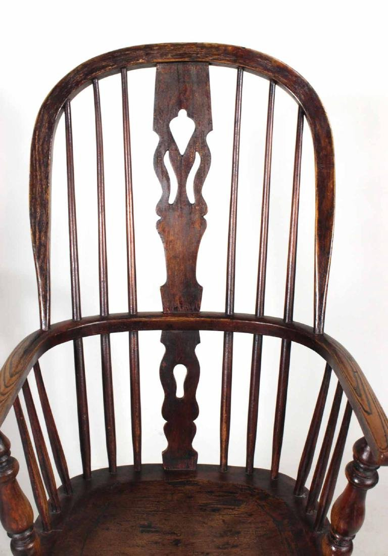 Four Yew Wood Armchairs - 3