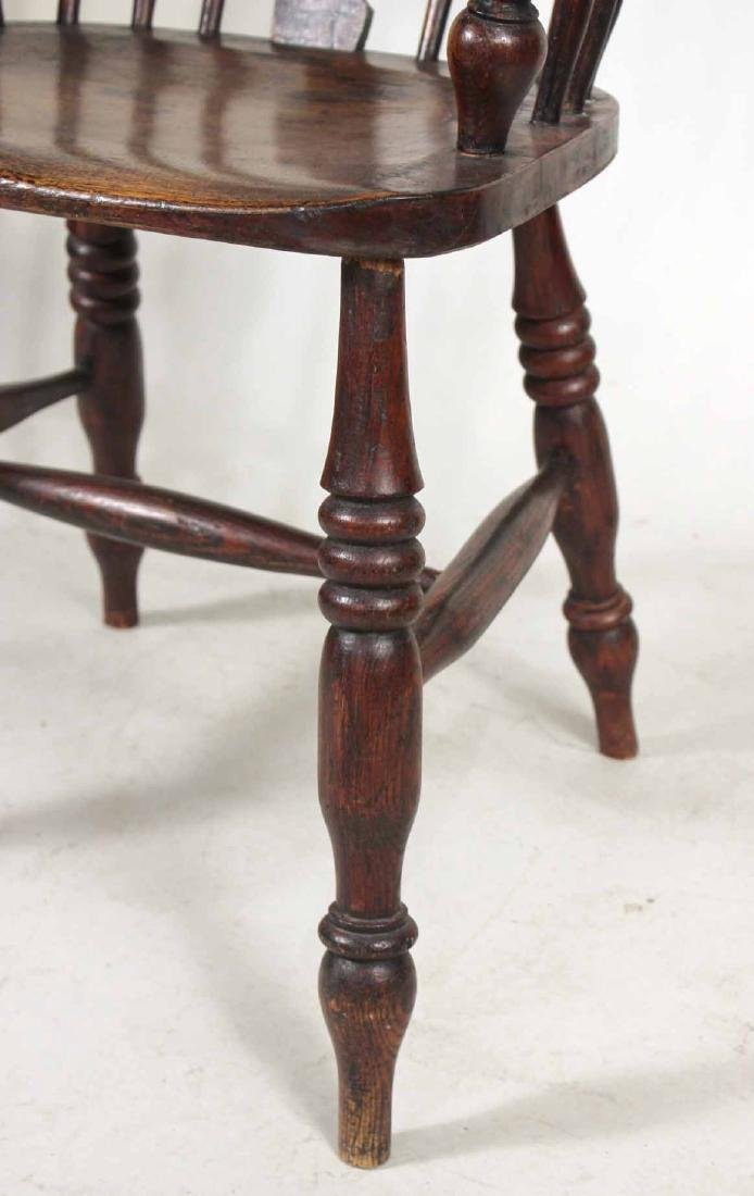 Four Yew Wood Armchairs - 5