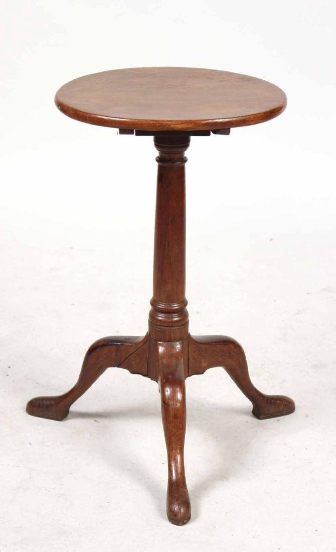 George II Oak Tilt-Top Candlestand