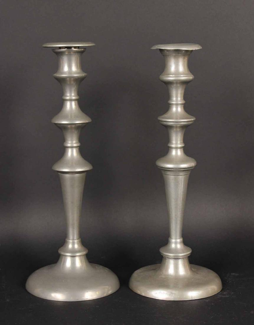 Eight Pewter Candlesticks - 2