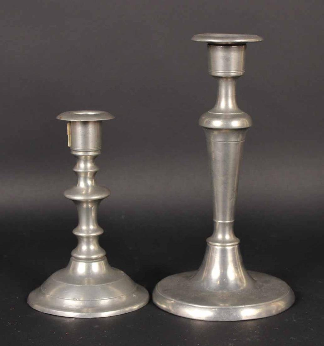 Eight Pewter Candlesticks - 6