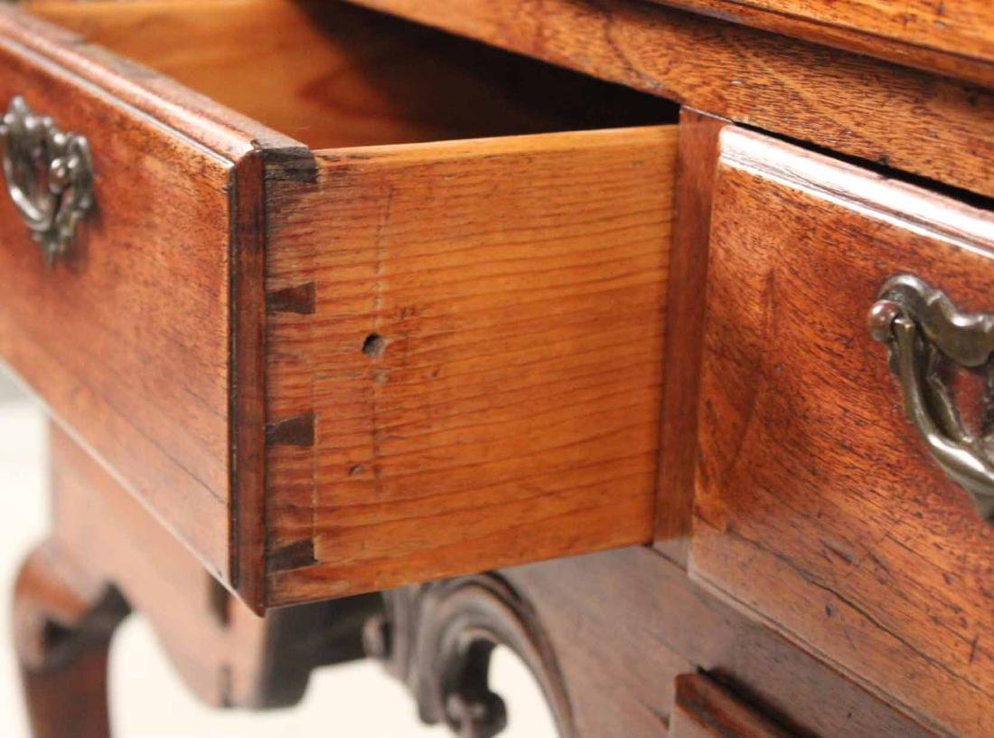 George II Walnut Lowboy - 6