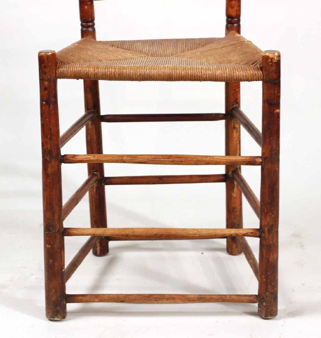 Ladderback Rush Seat Backstool - 4