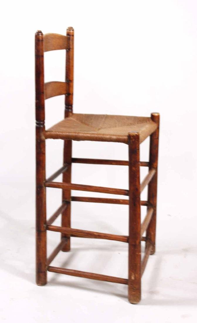Ladderback Rush Seat Backstool - 5