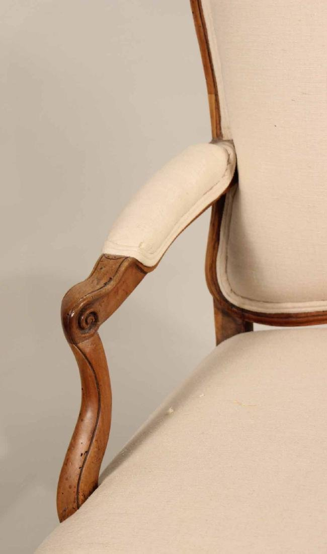 Louis XV Provincial Carved Fruitwood Fauteuil - 2
