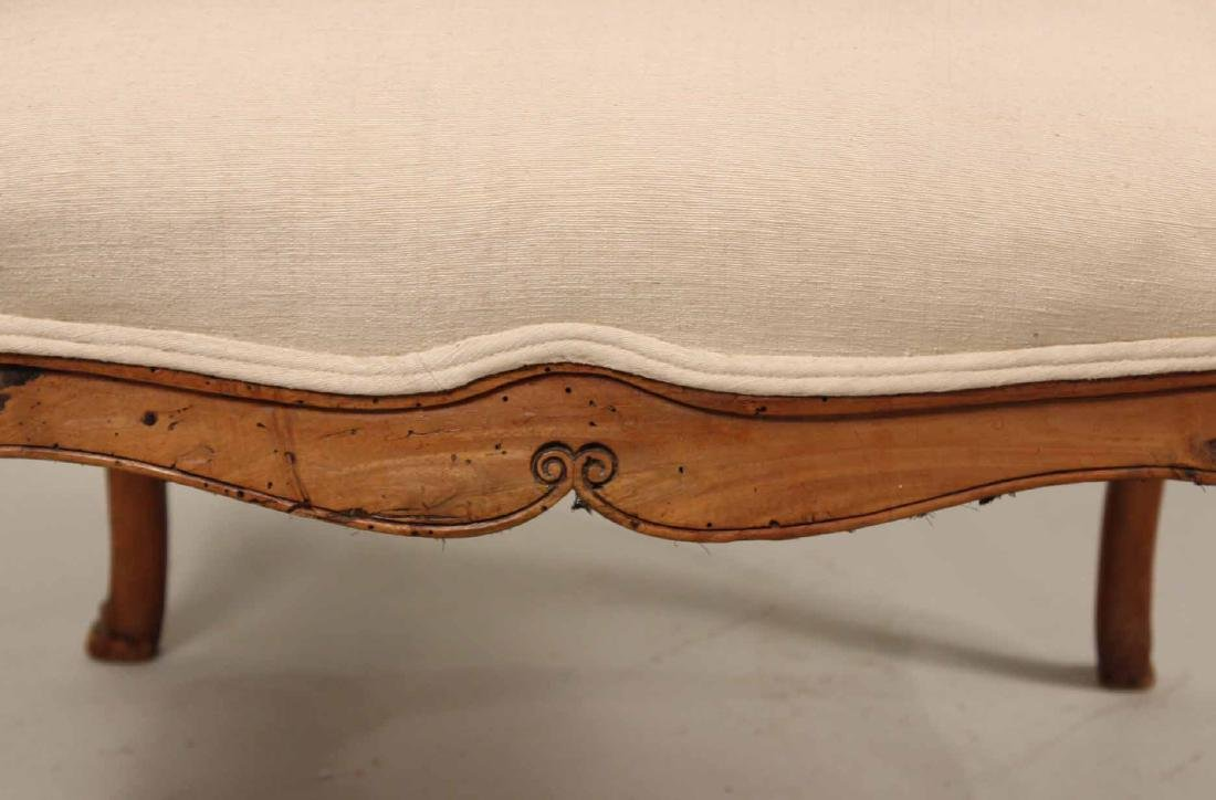 Louis XV Provincial Carved Fruitwood Fauteuil - 3