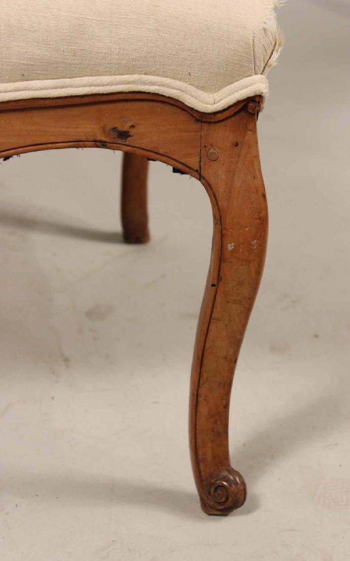 Louis XV Provincial Carved Fruitwood Fauteuil - 4