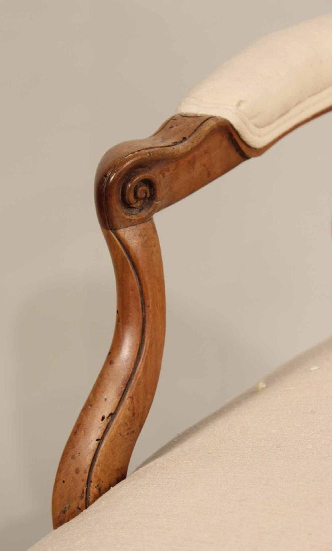 Louis XV Provincial Carved Fruitwood Fauteuil - 5