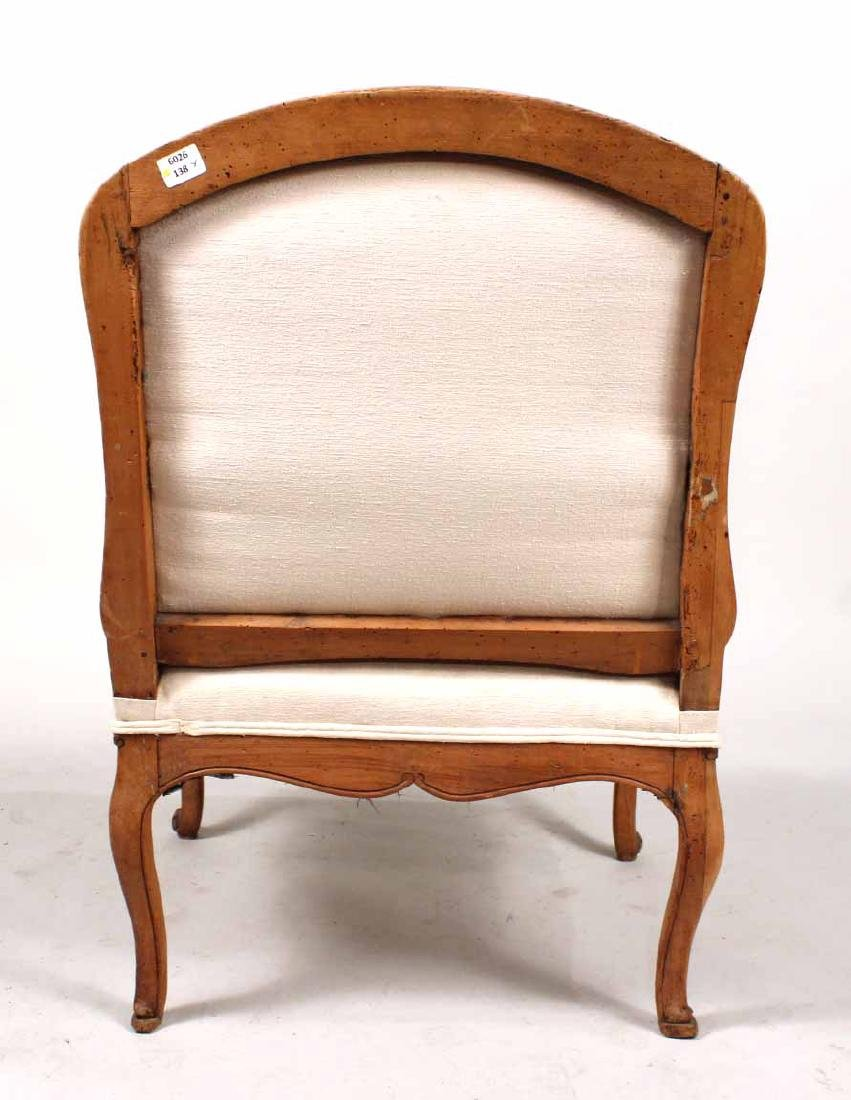 Louis XV Provincial Carved Fruitwood Fauteuil - 7