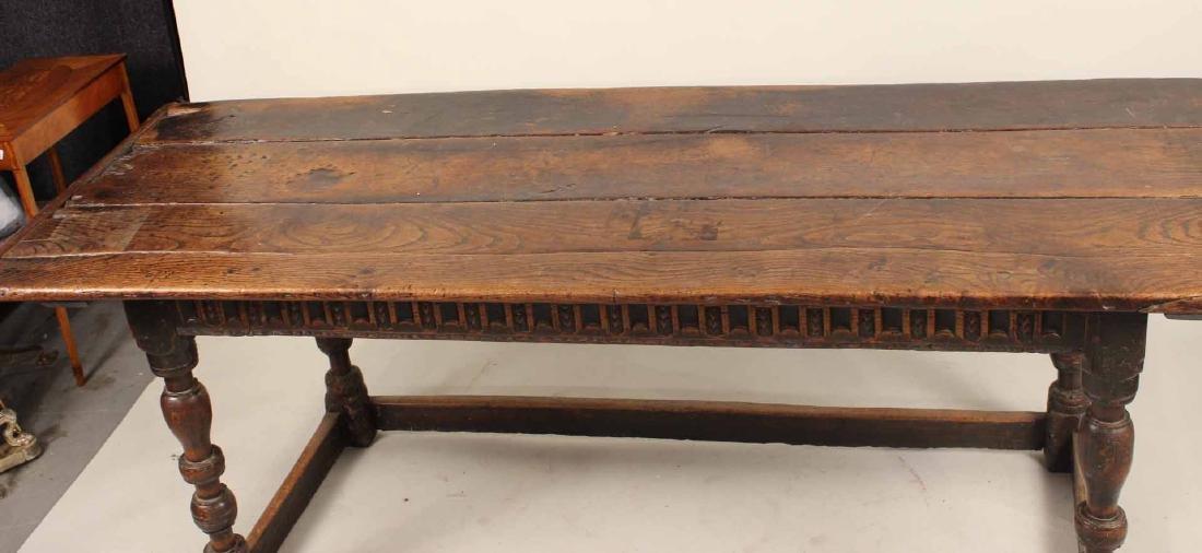 Jacobean Oak Refectory Table - 4