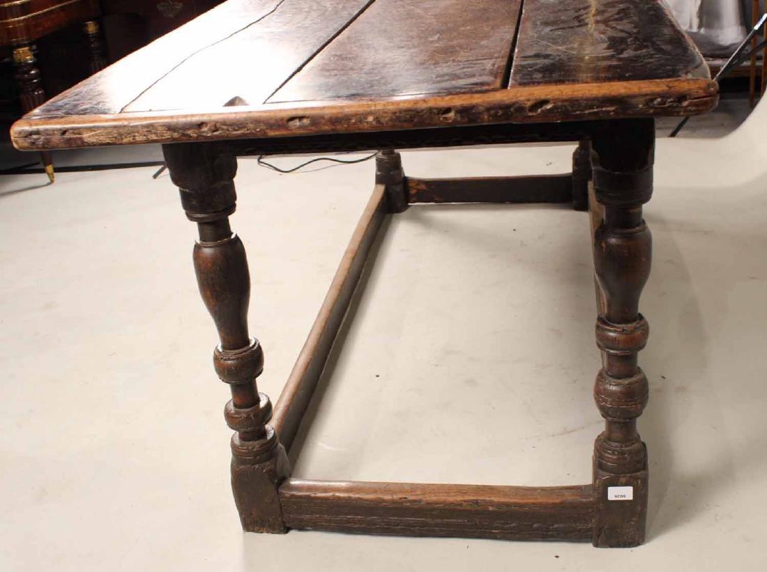 Jacobean Oak Refectory Table - 7