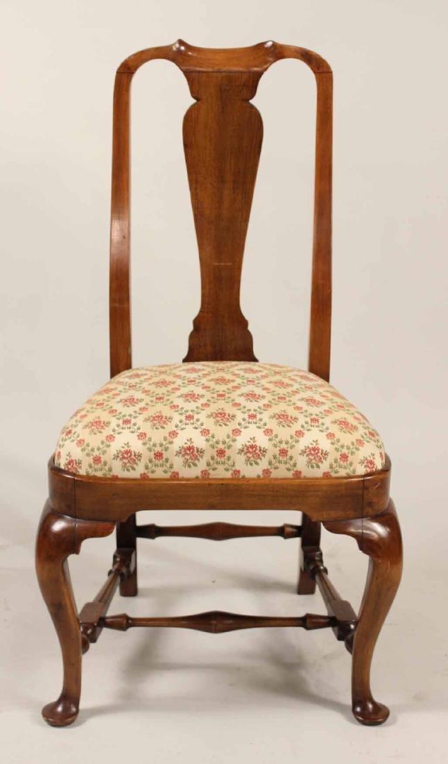 Queen Anne Walnut Side Chair - 2