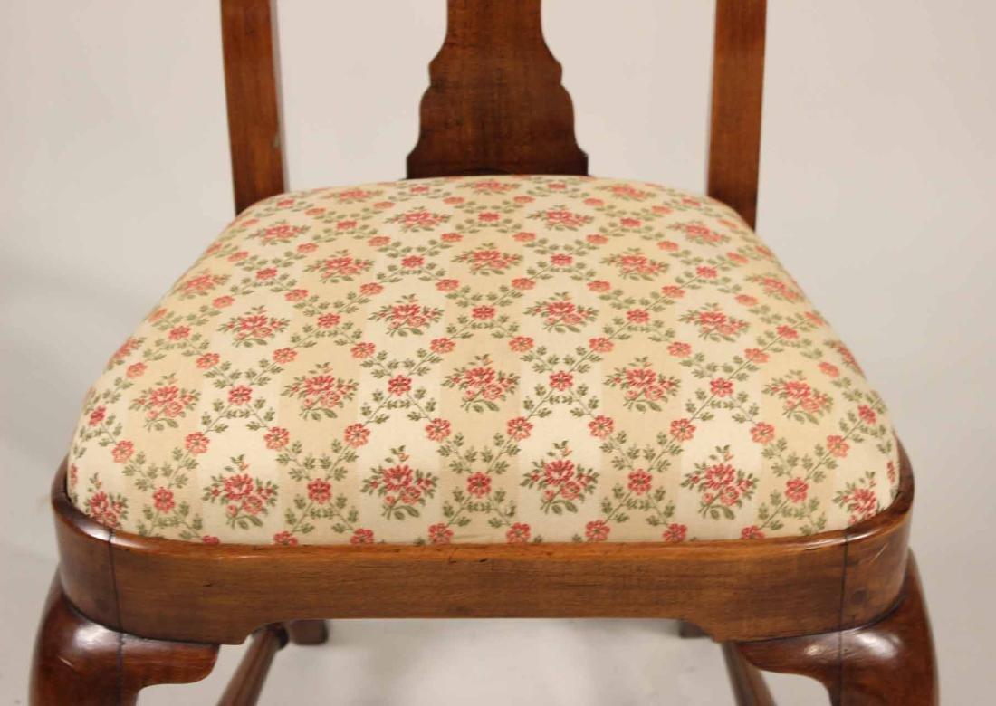 Queen Anne Walnut Side Chair - 4